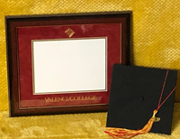 Valencia College Diploma Frame W/ Mahogany/Gold Frame Red/Gold Mat Gold Emboss Seal