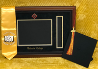 Valencia College Diploma Frame & Tassel W/ Walnut Rope Frame Black/Gold Mat/Colored Medallion Seal