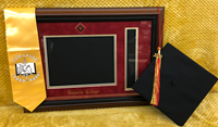 Valencia College Diploma Frame & Tassel W/ Walnut Rope Frame Red/Gold Mat/Colored Medallion Seal