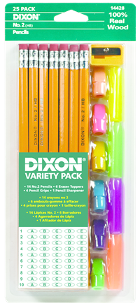 DIXON ECONOMY WRITING PENCIL VARIETY PACK #2 25Pk
