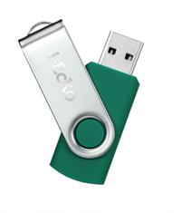 I-ECKO 8GB FLIP ECO-FRIENDLY USB FLASH DRIVES